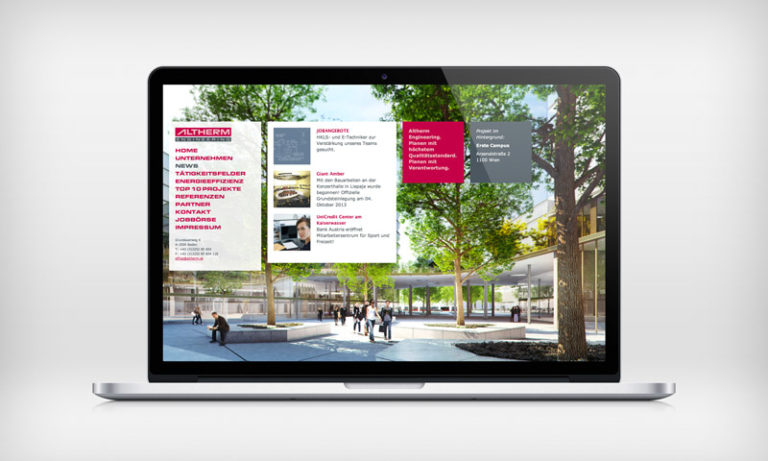 Altherm, Responsive Webdesign