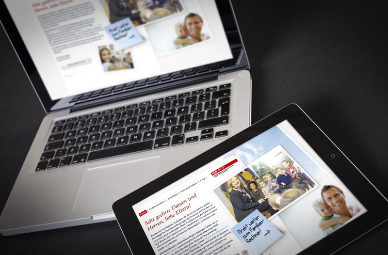 BMF Familienrechner, Responsive Webdesign