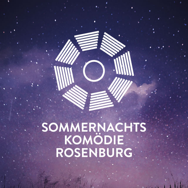 Sommernachtskomödie Rosenburg Logo Design